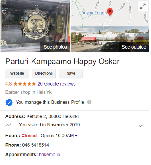 Google My Business free business profile